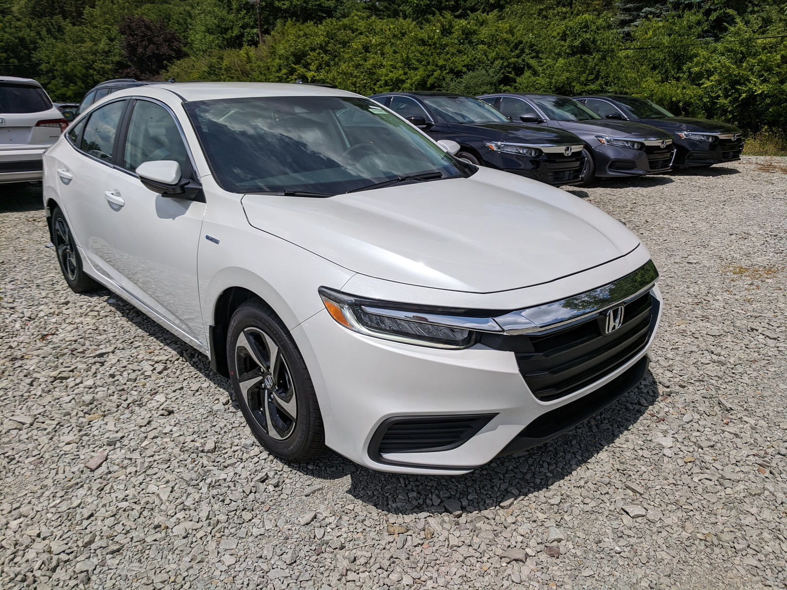 new 2021 honda insight ex in platinum white pearl